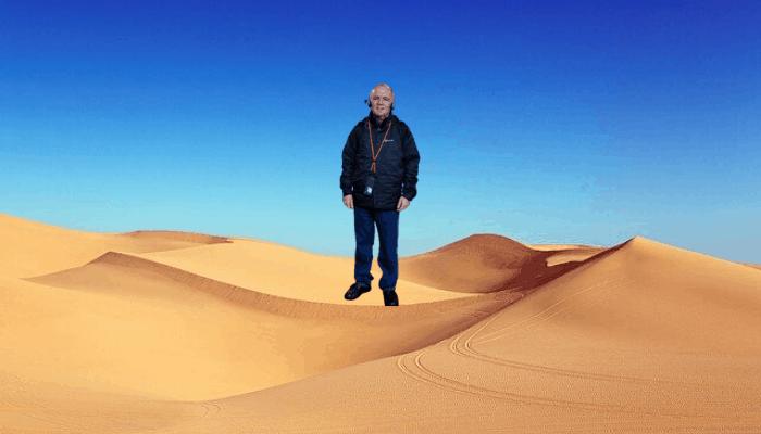 David in the desert