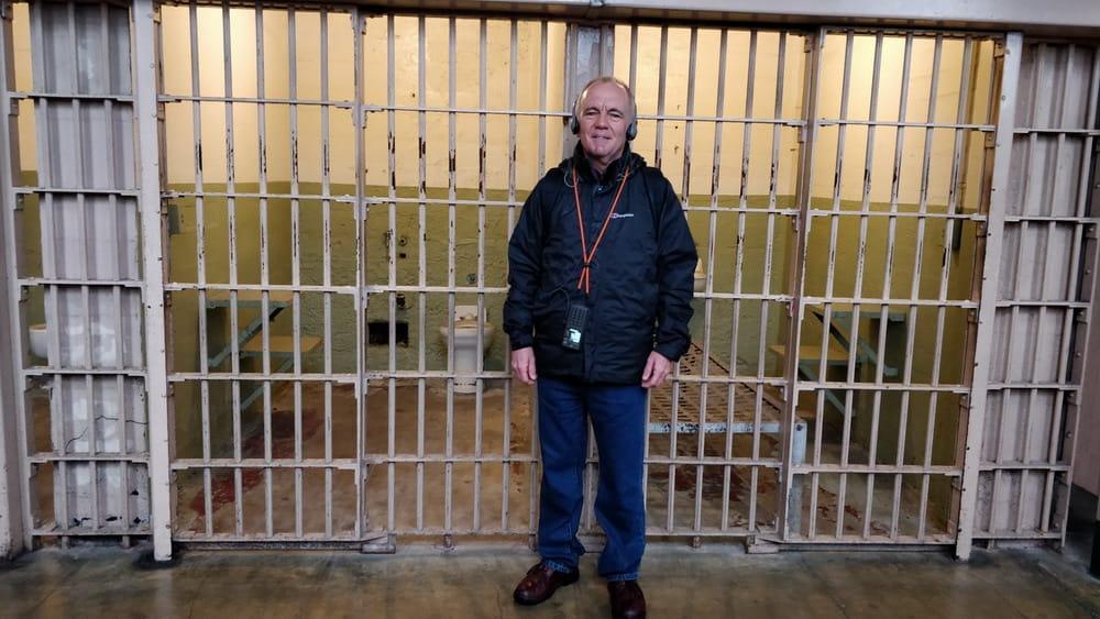 David at Alcatraz Prison